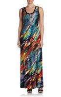 Calvin Klein Paint Splatter Maxi Dress - Lyst