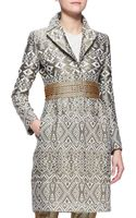 Etro Threesnap Jacquard Princess Topper Jacket - Lyst