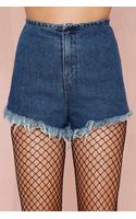 Nasty Gal Unifm Fray Short - Lyst