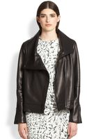 Helmut Lang Petal Asymmetrical Leather Jacket - Lyst