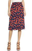 Ella Moss Poppy Fields Skirt Ruby - Lyst