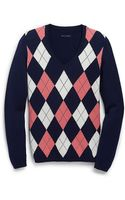 Tommy Hilfiger V-Neck Argyle Sweater - Lyst