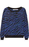 Diane Von Furstenberg Estelle Zebraprint Woolblend Sweater - Lyst