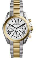 Michael Kors Bradshaw Mini Twotone Stainless Steel Watch - Lyst