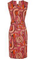 Issa Silk Jersey Drape Dress - Lyst