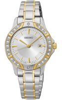 Seiko Womens Two-tone Stainless Steel Bracelet Watch 30mm Sur876 - Lyst