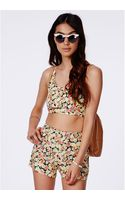 Missguided Spirina Yellow Floral Bralet - Lyst
