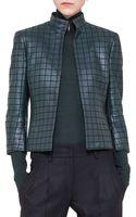 Akris Stitched Leather Jacket - Lyst