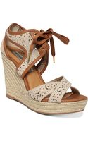 Naughty Monkey Starshine Platform Wedge Sandals - Lyst