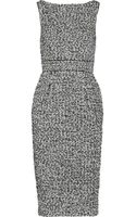 Badgley Mischka Tweed Dress - Lyst