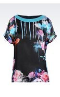 Emporio Armani Top in Printed Silk - Lyst