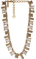 Oscar de la Renta Crystal Baguette Necklace - Lyst