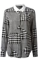 Donna Karan New York Houndstooth Printed Shirt - Lyst