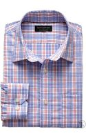 Banana Republic Factory Tailored Slim Fit Non Iron Memphis Check Shirt Blue Check - Lyst
