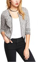 Express Cropped Bead Embellished French Terry Jacket - Lyst
