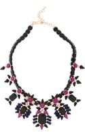 Kenneth Jay Lane Blackened Crystal Necklace - Lyst