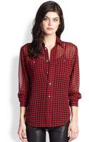 Polo Ralph Lauren Silk Buffalo Plaid Shirt - Lyst