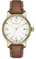Burberry Utilitarian Goldtone Stainless Steel House Check Strap Watch - Lyst