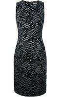 Bottega Veneta Geometric Print Shift Dress - Lyst