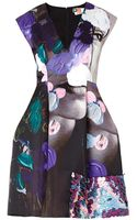 MSGM Face and Paint-print Dress - Lyst