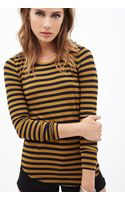 Forever 21 Striped Knit Top - Lyst