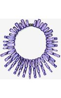 Nasty Gal Lilac Attack Jeweled Collar Necklace - Lyst