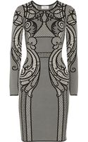Temperley London Lavinia Intarsia Stretchknit Dress - Lyst