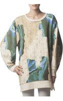 Acne Studios Longsleeve Avedon Print Sweatshirt Bluetaupe - Lyst
