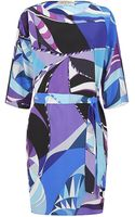 Emilio Pucci Astana Silk Dress - Lyst