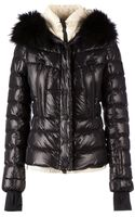 Moncler Grenoble Fur Hood Padded Jacket - Lyst