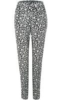 French connection Animal Palette Crepe Trousers - Lyst