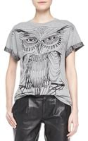 RED Valentino Cotton Jersey Owl Tee - Lyst