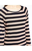 French connection Cocoa Striped Top - Lyst
