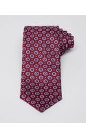 Canali Felted Medallion Neat Classic Tie - Lyst