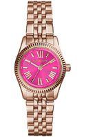 Michael Kors Womens Petite Lexington Rose Goldtone Stainless Steel Bracelet Watch 26mm - Lyst