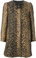 RED Valentino Bow Leopard Coat - Lyst