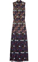 Mary Katrantzou Badgielol Macramé Lace Gown - Lyst