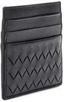 Bottega Veneta Intrecciato Leather Card Holder - Lyst
