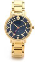 Kate Spade Gramercy Bracelet Watch Navy - Lyst