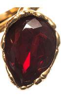 Oscar de la Renta Crystal Teardrop Ring - Lyst