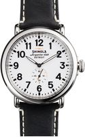 Shinola The Runwell Leather Strap Watch 47mm - Lyst