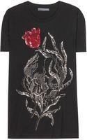 Alexander McQueen Embellished Cotton Tshirt - Lyst
