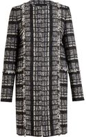 Proenza Schouler Collarless Tweed Coat - Lyst