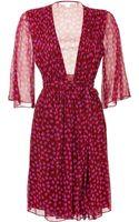 Diane Von Furstenberg Silk Chiffon Printed Dress - Lyst