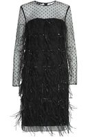 Escada Dafeter Feathered Cocktail Dress - Lyst