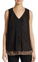 Saks Fifth Avenue Black Label Layered Sequin Top - Lyst