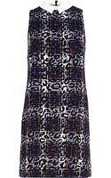 River Island Purple Tartan Leopard Print Shift Dress - Lyst