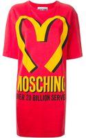 Moschino Branded T Shirtdress - Lyst