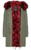 Mr & Mrs Furs Garance Furlined Parka - Lyst