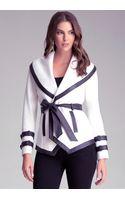 Bebe Wool Wrap Jacket - Lyst